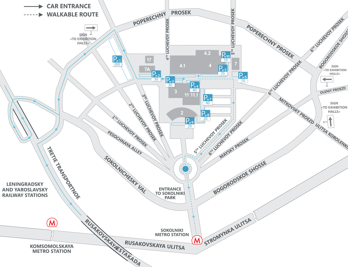 Location map to the exhibition Euro Shoes